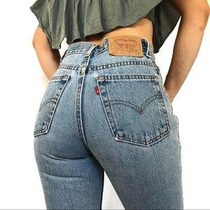 Vintage Levi's 512 Slim high rise mom Jeans USA 25